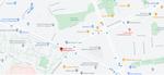 Mapa przedstawiająca lokalizację sklepu stacjonarnego studio sport w Warszawie.