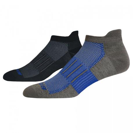 skarpety Brooks Ghost Midweight Socks - 2 pary black/blue (1)