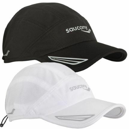 czapka Saucony Speed Run Cap biała (1)