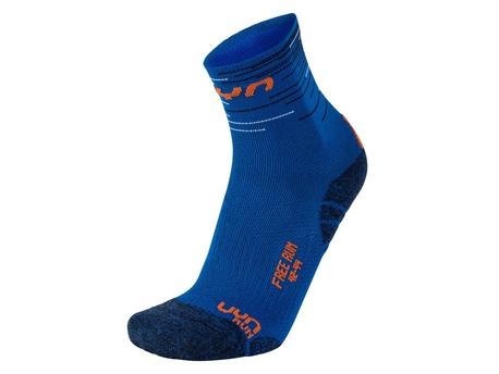 skarpety UYN Free Run Socks royal blue/orange (1)