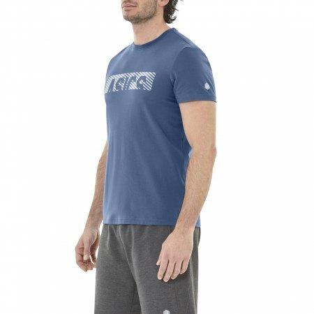 koszula ASICS Esnt Diagonal SS TOP niebieska   2031A349-400 (1)