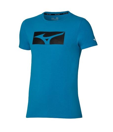 Koszulka Mizuno Athletic RB Tee Blue | K2GA100324 (1)