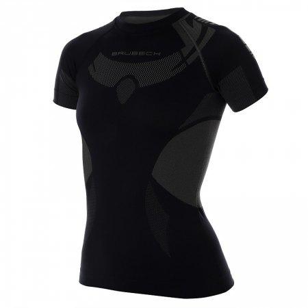 koszulka termoaktywna Brubeck DRY SS11960 damska czarna (1)