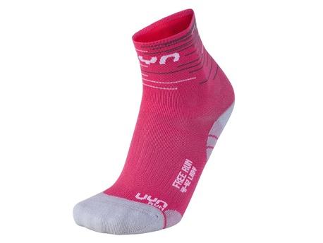 skarpety damskie UYN Free Run Socks fuksia/white (1)