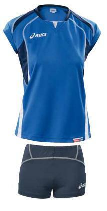 komplet siatkarski Asics Olympic damski niebieski (1)