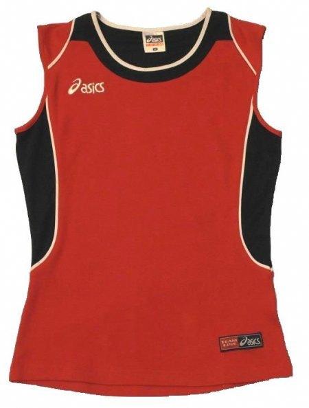 koszulka siatkarska Asics Perugia czerwona damska (1)