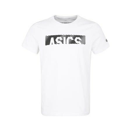 koszula ASICS Esnt Diagonal SS TOP biała | 2031A349-100 (1)