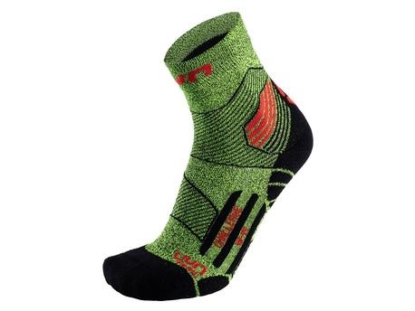 skarpety UYN Run Trail Socks yellow fluo melange/red (1)
