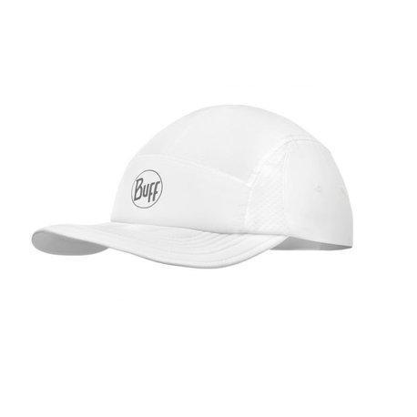 Czapka do biegania Buff Pack Run Cap R-Solid White (1)