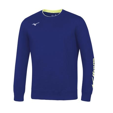 Bluza Mizuno Sweat Crew niebieska   32EC700722 (1)