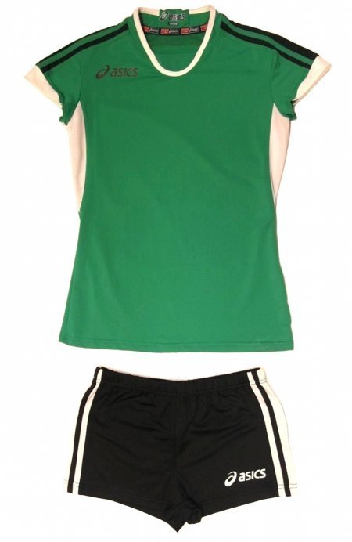 komplet siatkarski Asics Set Azzurra damski zielony (1)