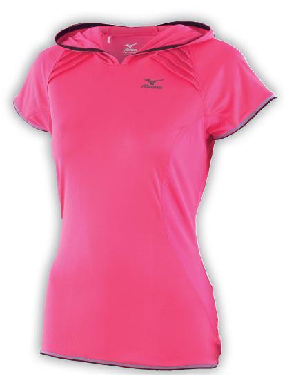 koszulka Mizuno Active Hooded Tee różowa (1)