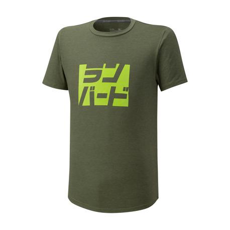 Koszulka Mizuno Athletic Runbird Tee khaki | K2GA050131 (1)