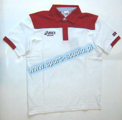 koszulka Asics Polo Squadra - biał. (1)