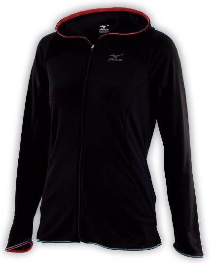bluza Mizuno Active Hooded Shirt damska czarna   77SP110 (1)