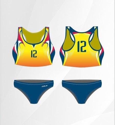 Strój do siatkówki plażowej Colo Flame top damski (1)